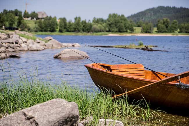 Ruderboot am Schluchsee