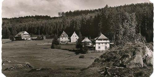 Historische Aufnahme der Pension Tannenheim
